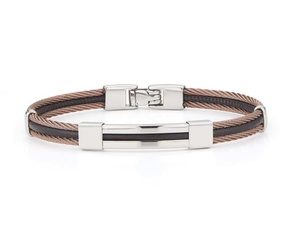 Gent's Bronze & Black Bangle Bracelet