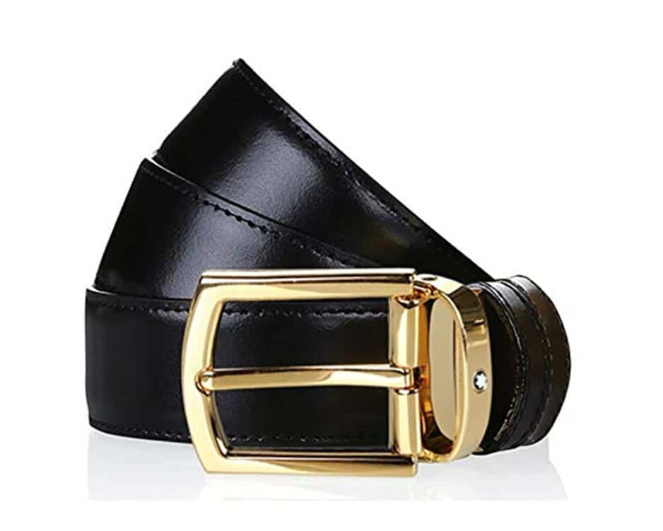 Brown Belt with Rectangular Pin Buckle