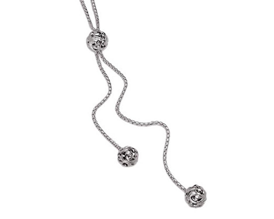 Sterling Silver Ivy Bead Necklace