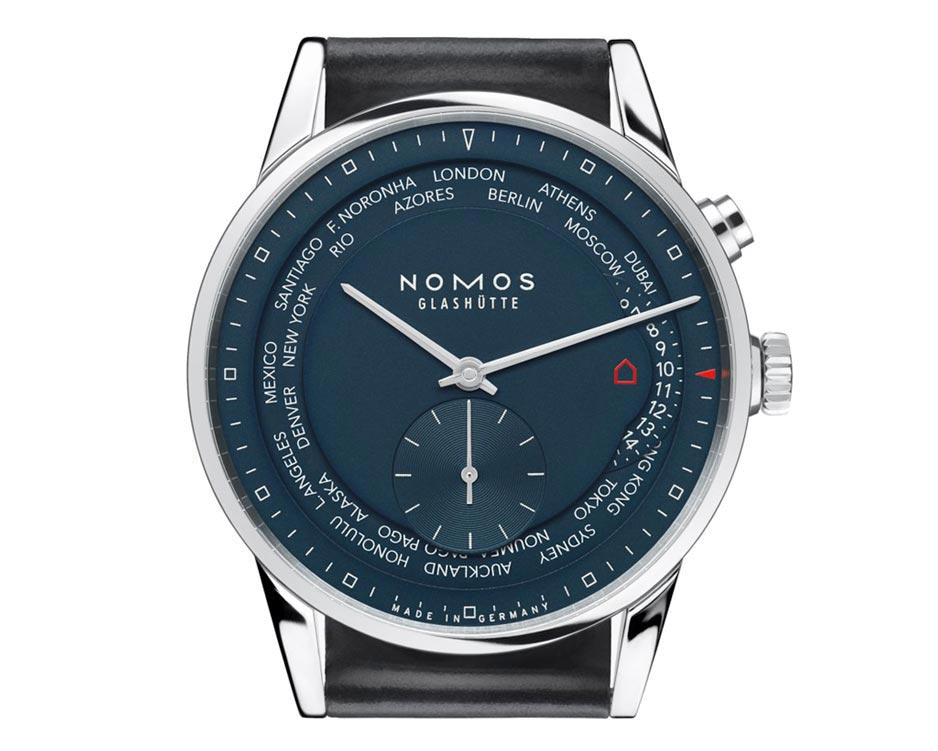Stainless Steel Blue World Time Watch