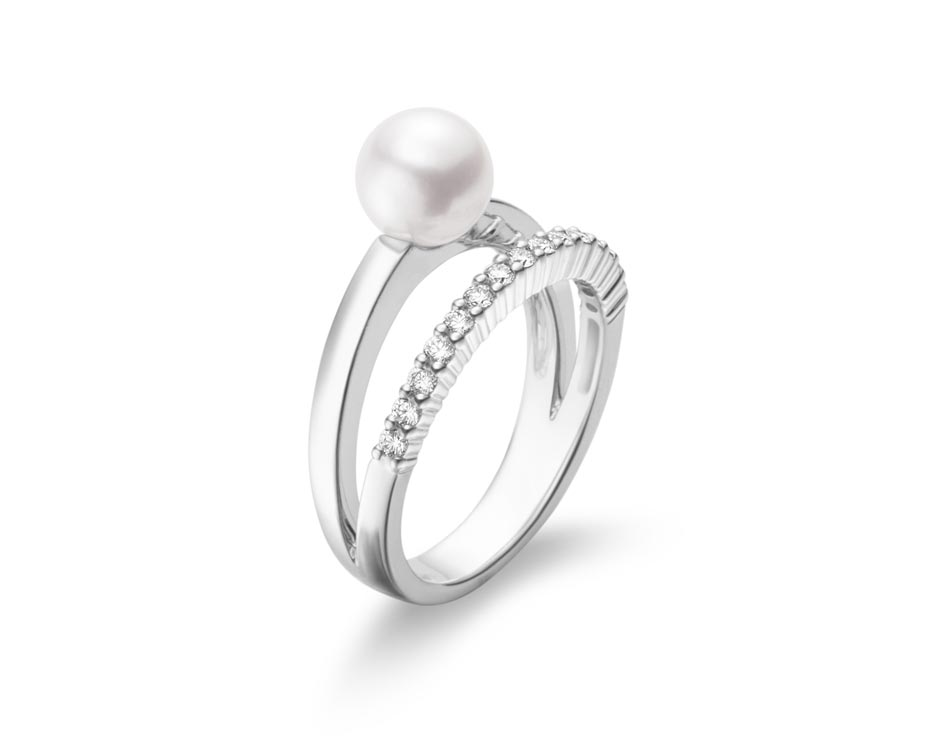 Split Shank Akoya Pearl Fashion Ring