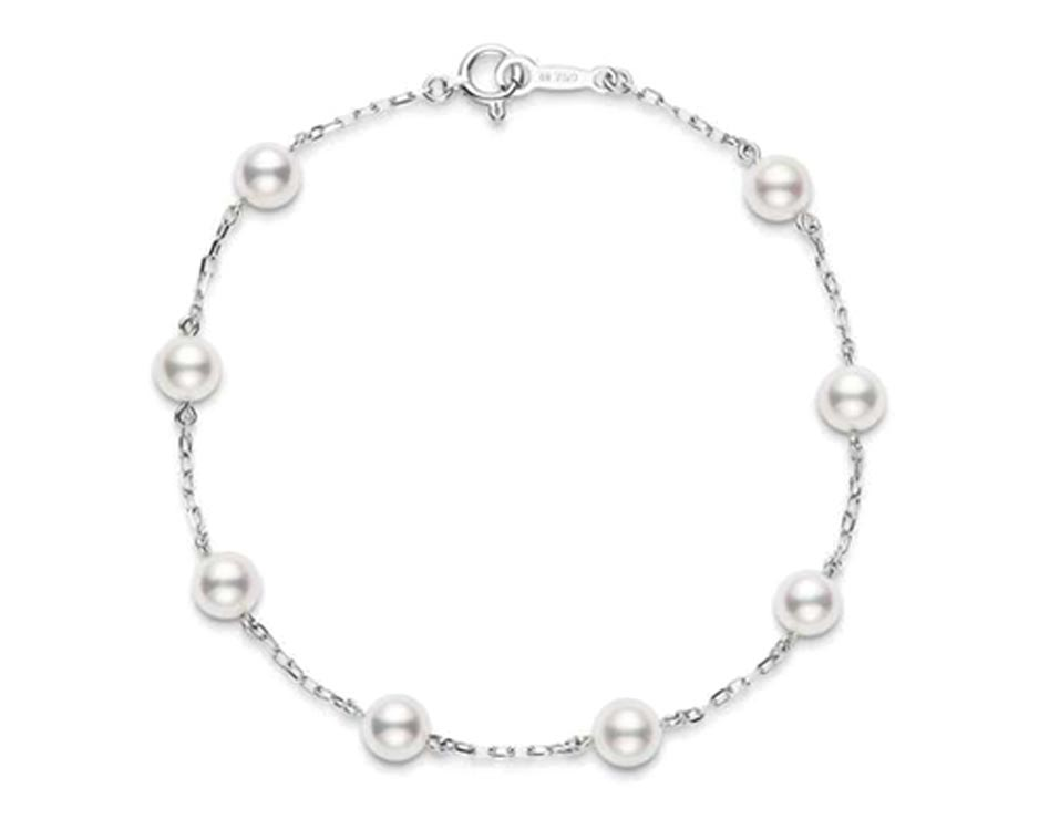 White 18kt Bracelet with Pearls