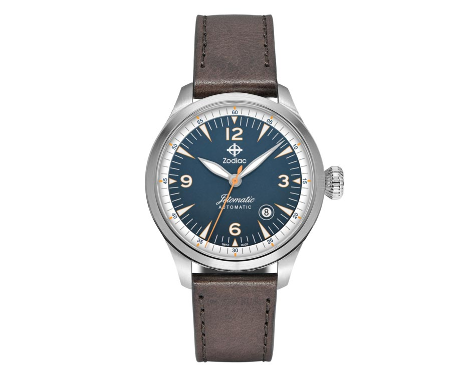 Stainless Steel Blue Jetomatic Watch