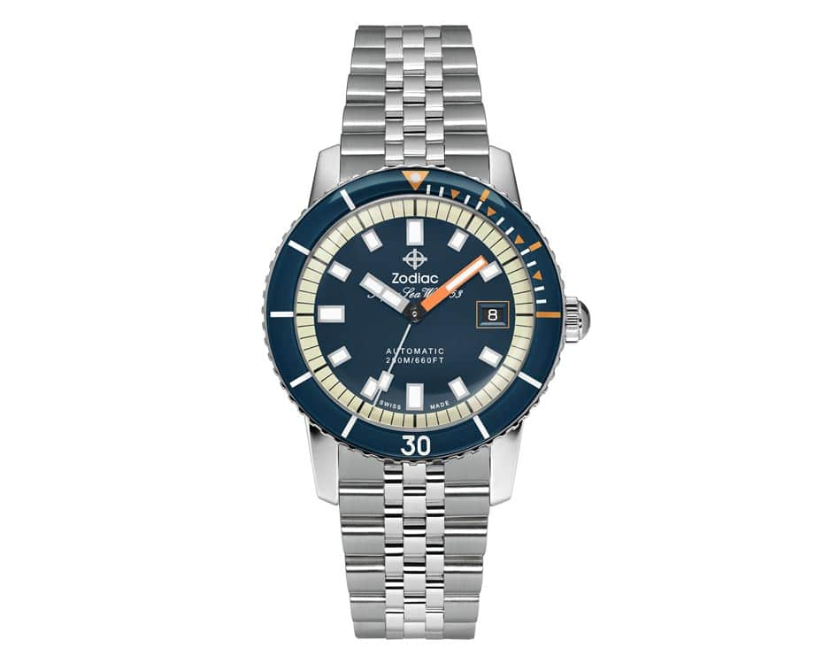 Stainless Steel Blue Watch