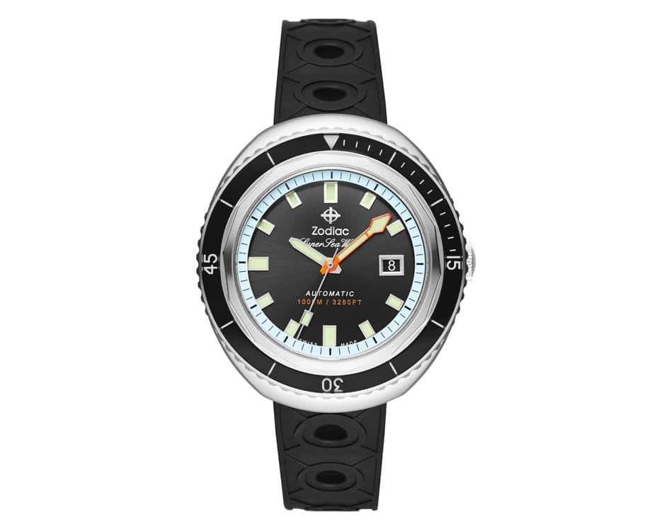 Stainless Steel Black Sunray Watch