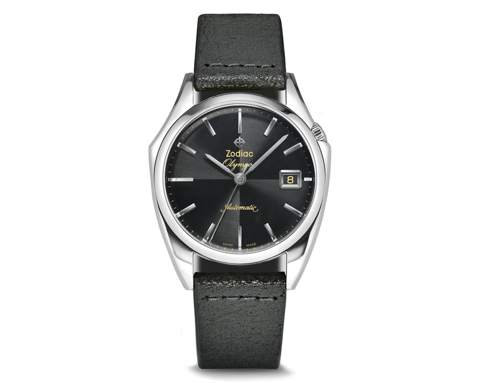 Stainless Steel Black Quarter Olympus Watch