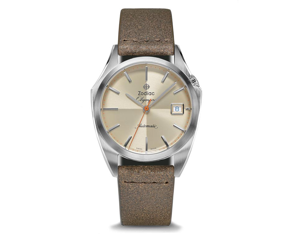 Stainless Steel Cream Olympos Watch