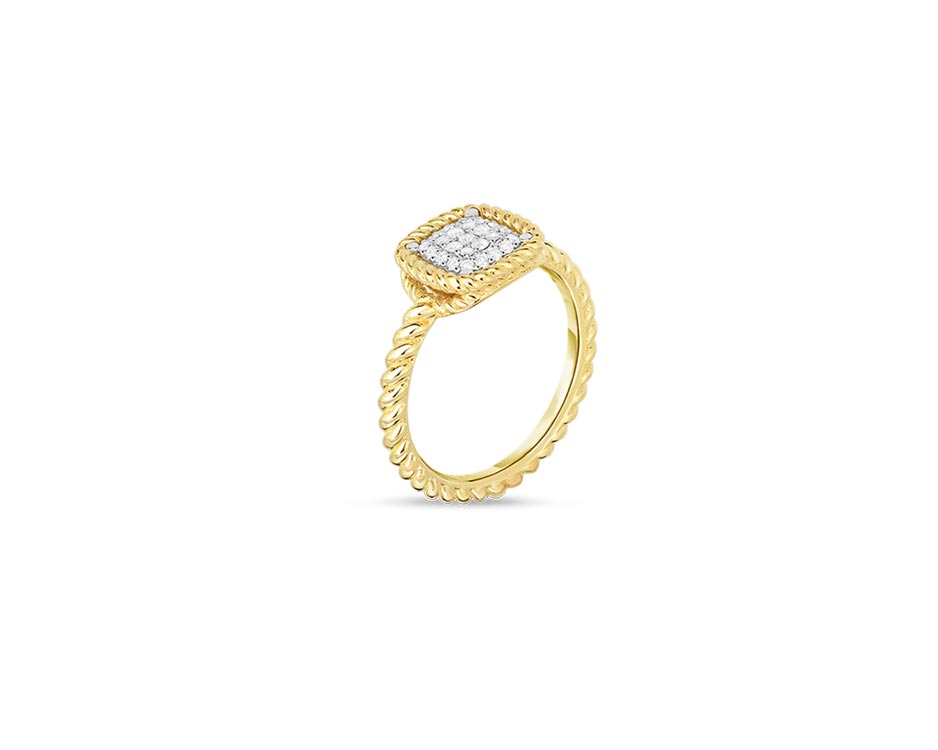 18Kt Textured Barocco Fashion Ring
