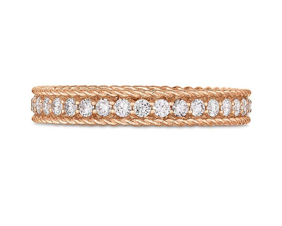 18Kt Rose Gold Symphony Ring