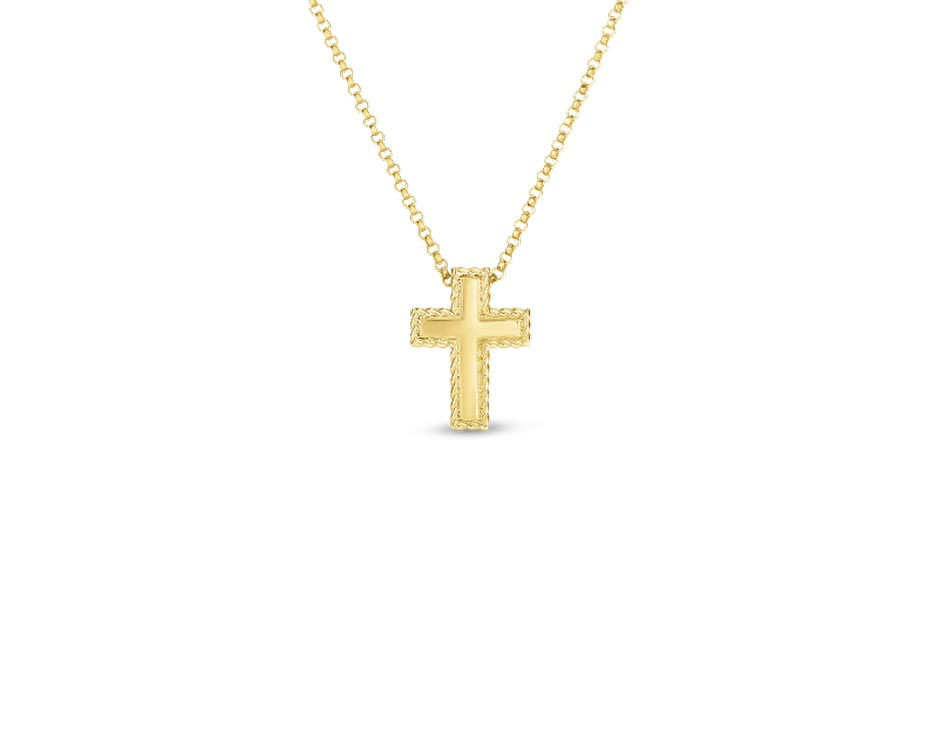 18Kt Princess Cross Pendant
