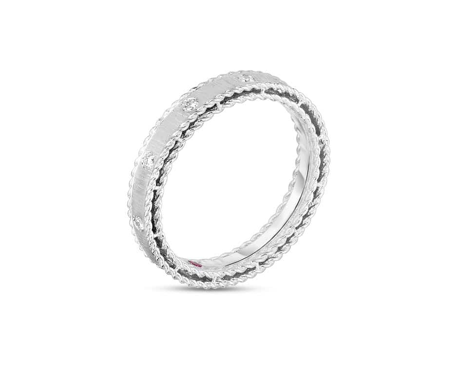 18Kt Brushed Eternity Ring