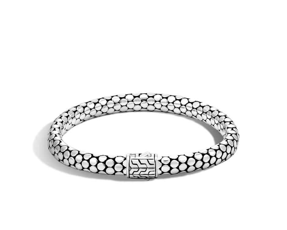 Small Sterling Silver Dot Chain Bracelet