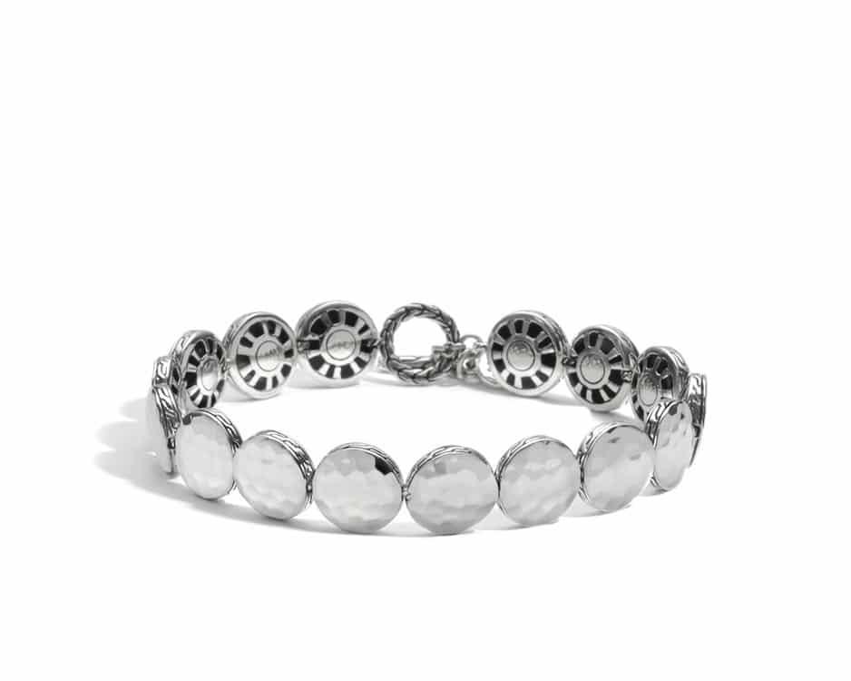 Medium Sterling Silver Round Disc Bracelet