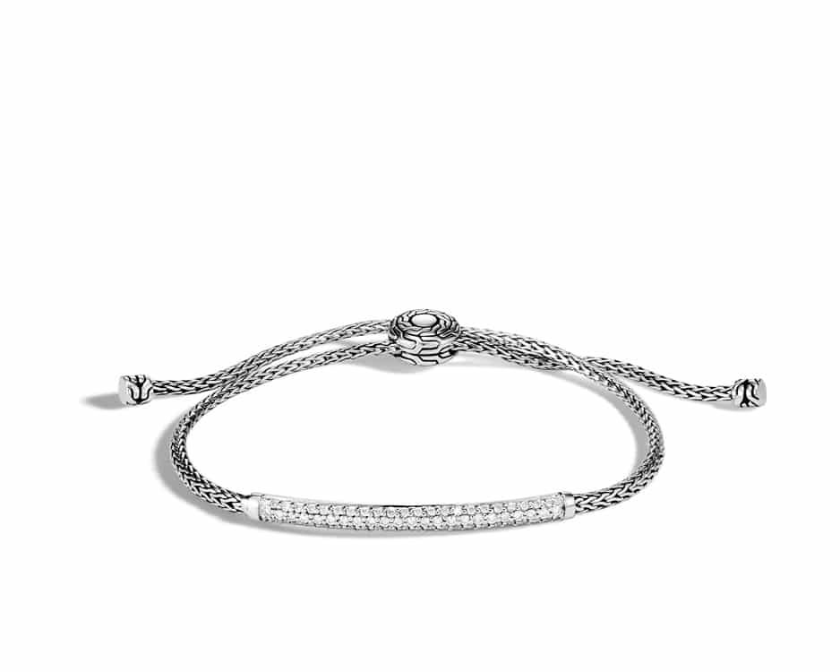 Adjustable Pave Pull-Through Bracelet