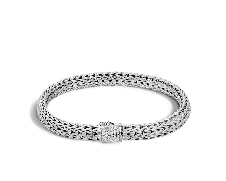Sterling Silver Diamond Pave Bracelet