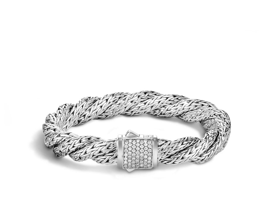 Medium Sterling Silver Twist Chain Bracelet