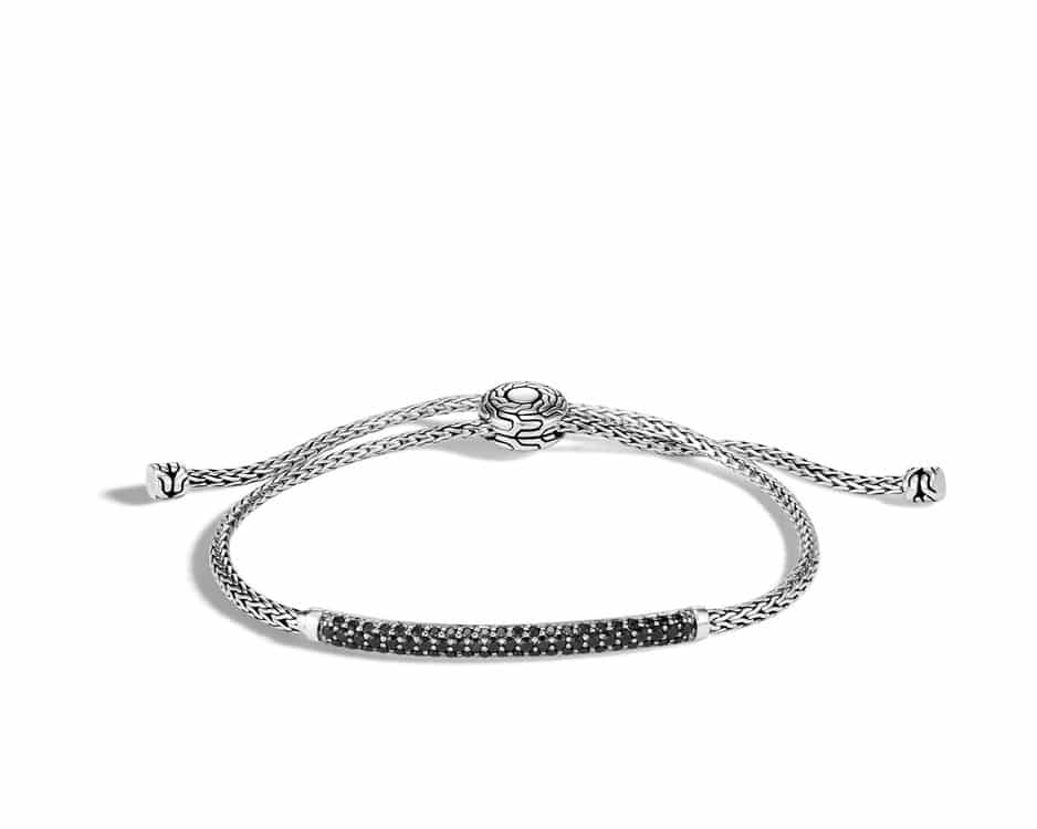 Sterling Silver & Black Sapphire Pull-Through Bracelet
