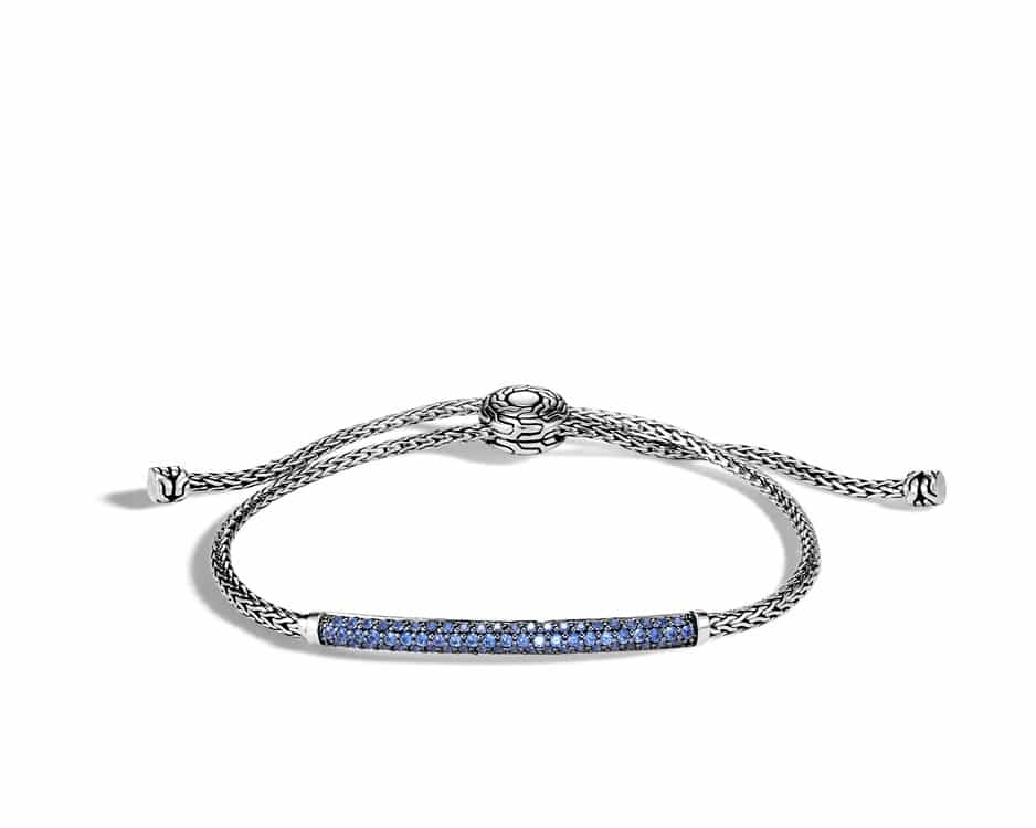 Sterling Silver & Blue Sapphire Pull-Through Bracelet