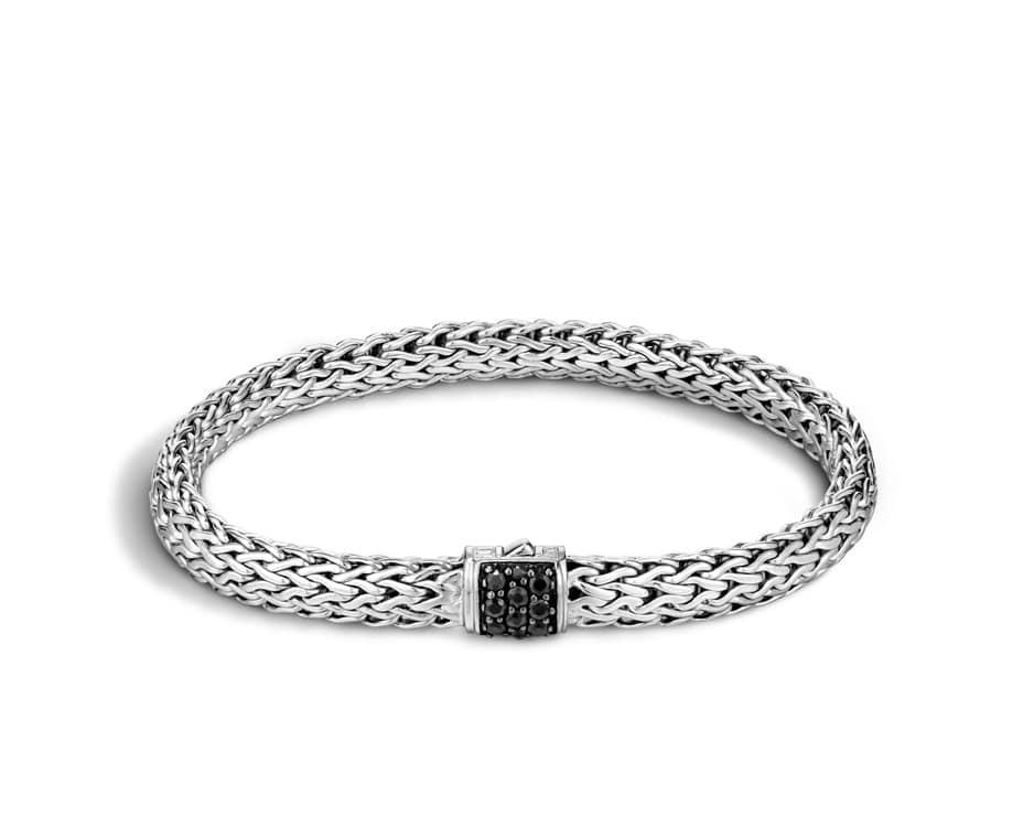 Small Sterling Silver Sapphire Chain Bracelet by John Hardy