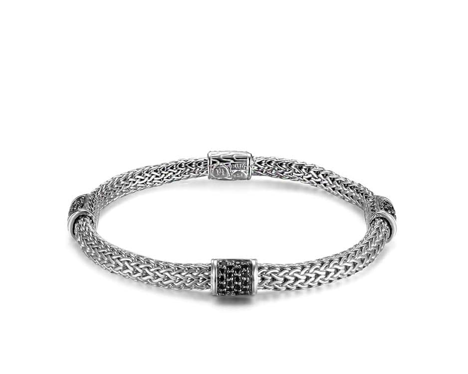 Sterling Silver Four Station Chain Bracelet by John Hardy