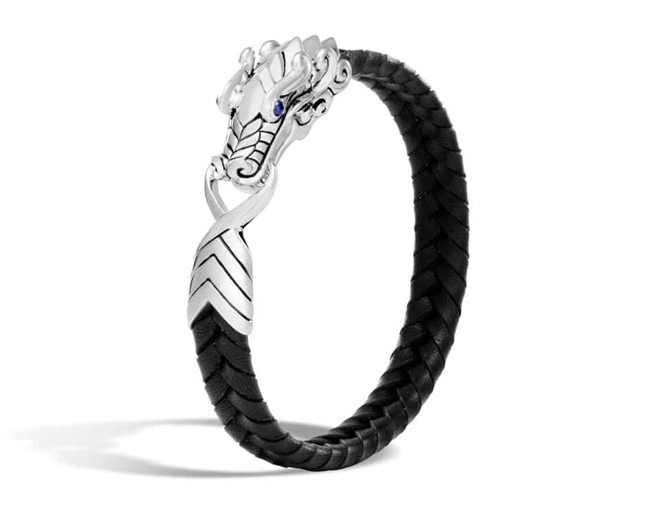 Sterling Silver & Blue Sapphire Legends Naga Bracelet by John Hardy