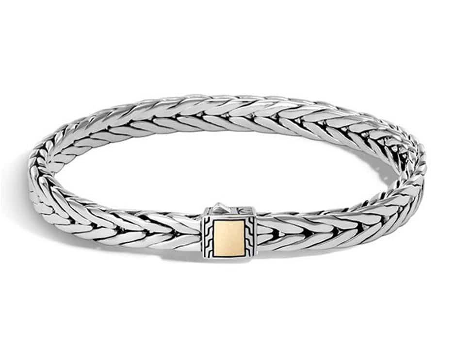 Two-Tone Modern Chain Bracelet