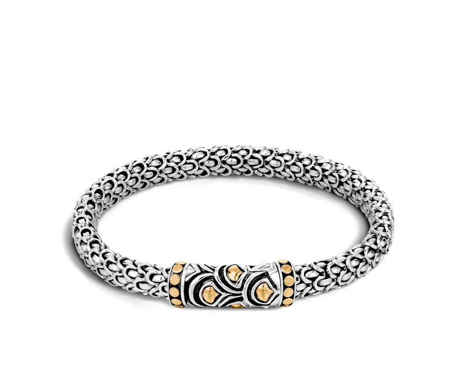 Two-Tone Sterling Silver Legends Naga Bracelet