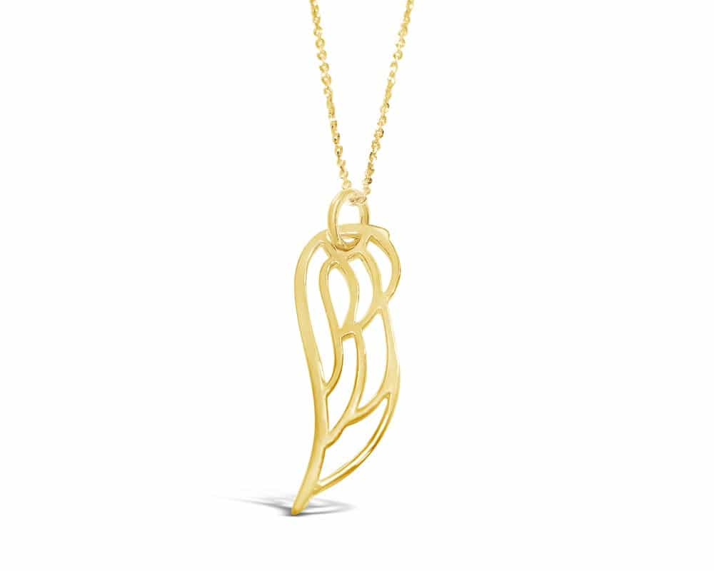 14kt Yellow Gold Angel Wing Pendant
