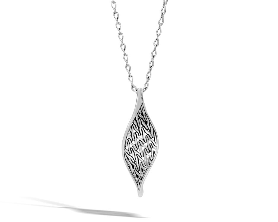 Sterling Silver Wave Pendant & Classic Chain