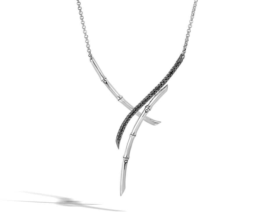 Sterling Silver Bamboo Necklace