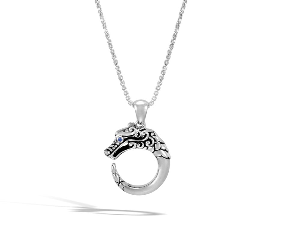 Sterling Silver & Blue Sapphire Legends Naga Bracelet