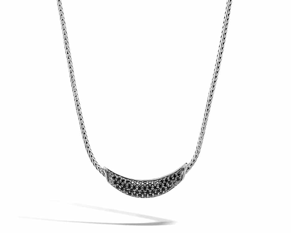 Sterling Silver & Black Sapphire Adjustable Necklace