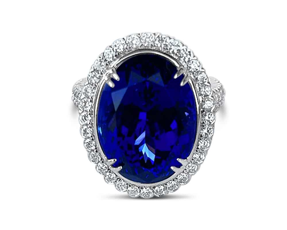 Christopher Designs Tanzanite and Diamond Ring