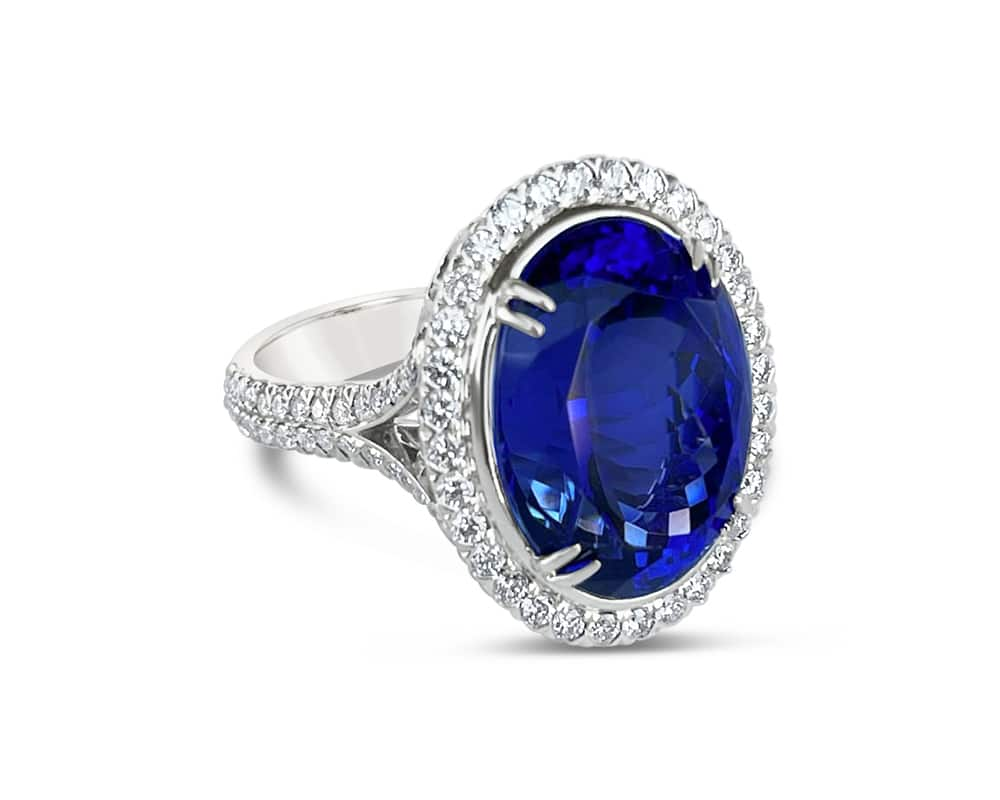 Christopher Designs Tanzanite and Diamond Ring