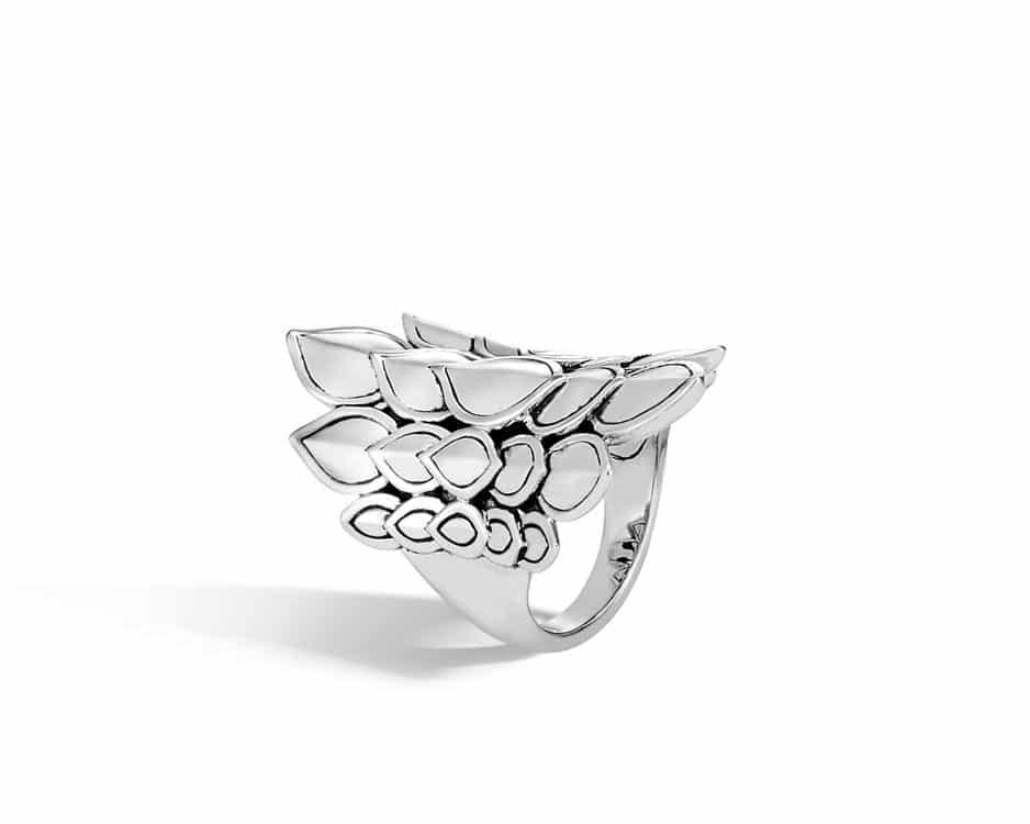 Sterling Silver Legends Naga Saddle Ring