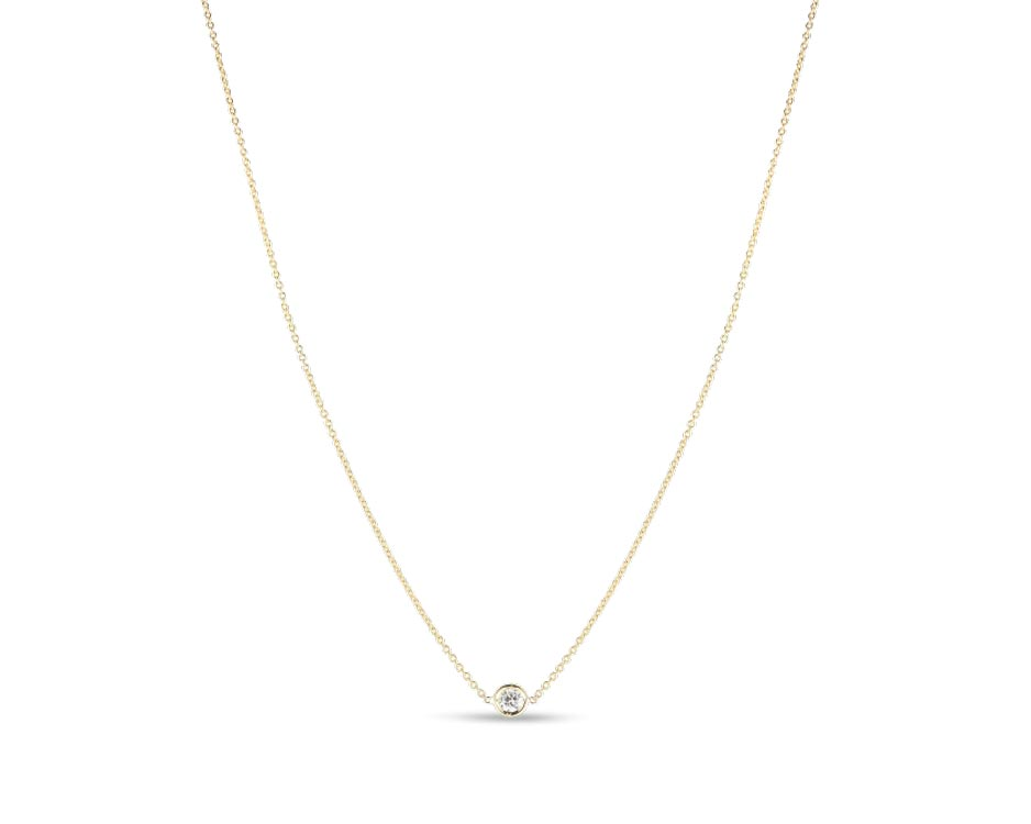 18Kt Single Station Necklace