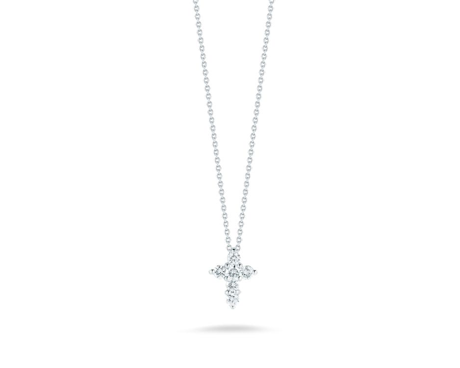 18Kt Large Cross Baby Necklace