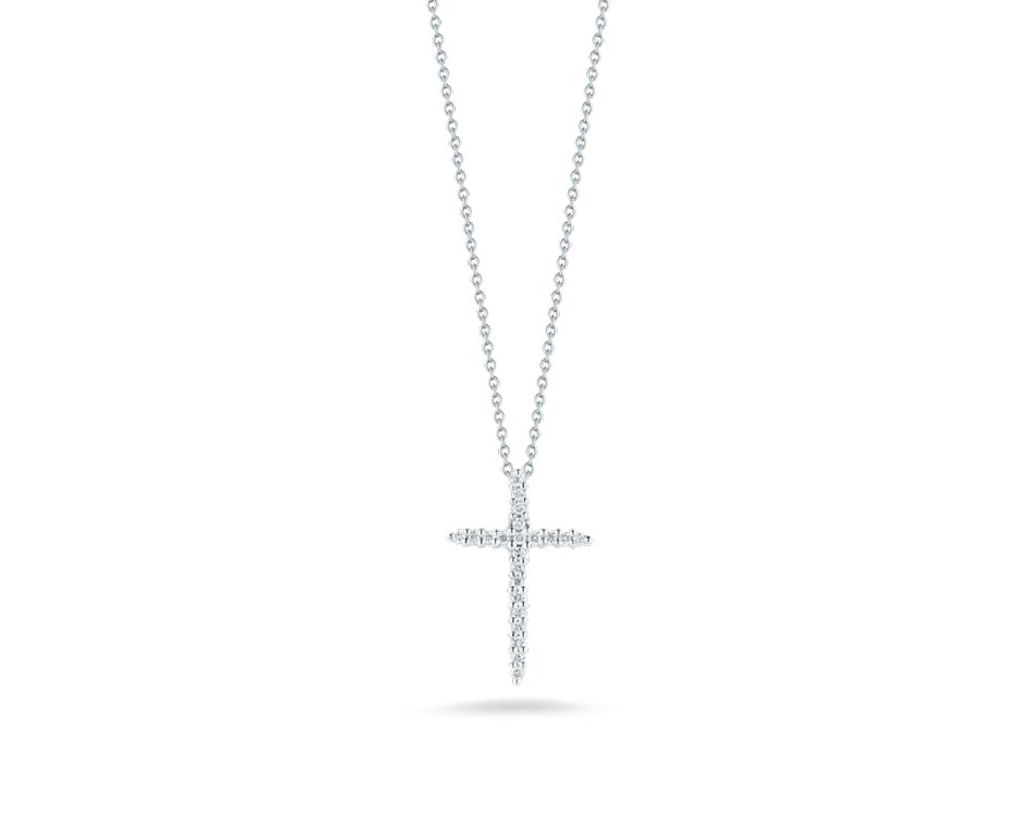 Tiny Treasures18K Cross Diamond Pendant