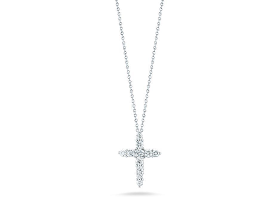 18Kt Diamond Cross Pendant