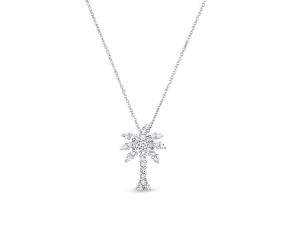 18Kt Large Palm Tree Diamond Pendant