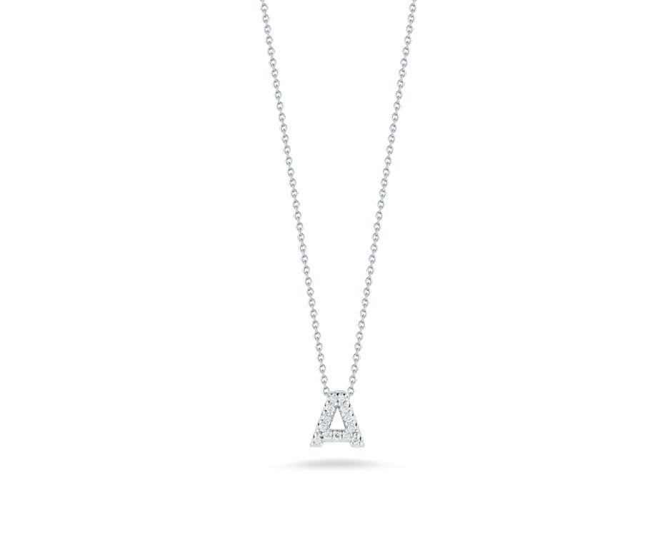 "Love Letter ""A"" Pendant with Diamonds"