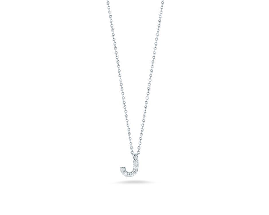 "Love Letter ""J"" Pendant with Diamonds"
