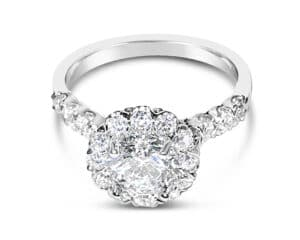 18kt White Gold Round Diamond Engagement Ring