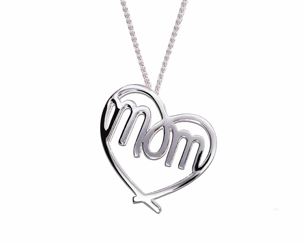 Heart Lines™ My Heart, My Mom Pendant Sterling Silver