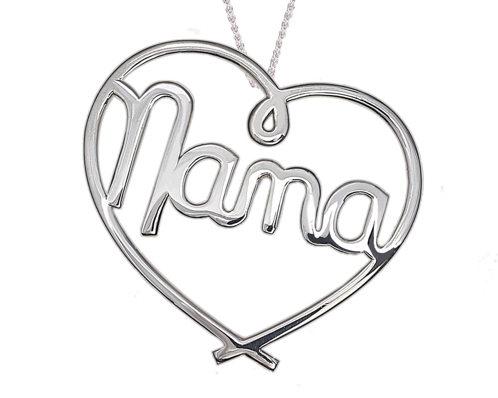 Heart Lines™  Large My Heart, My Nana Pendant Sterling Silver