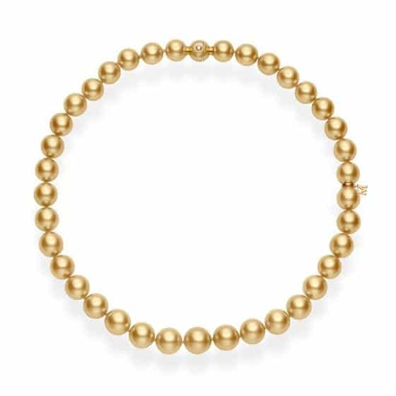 Golden South Sea Cultured Pearl Necklace