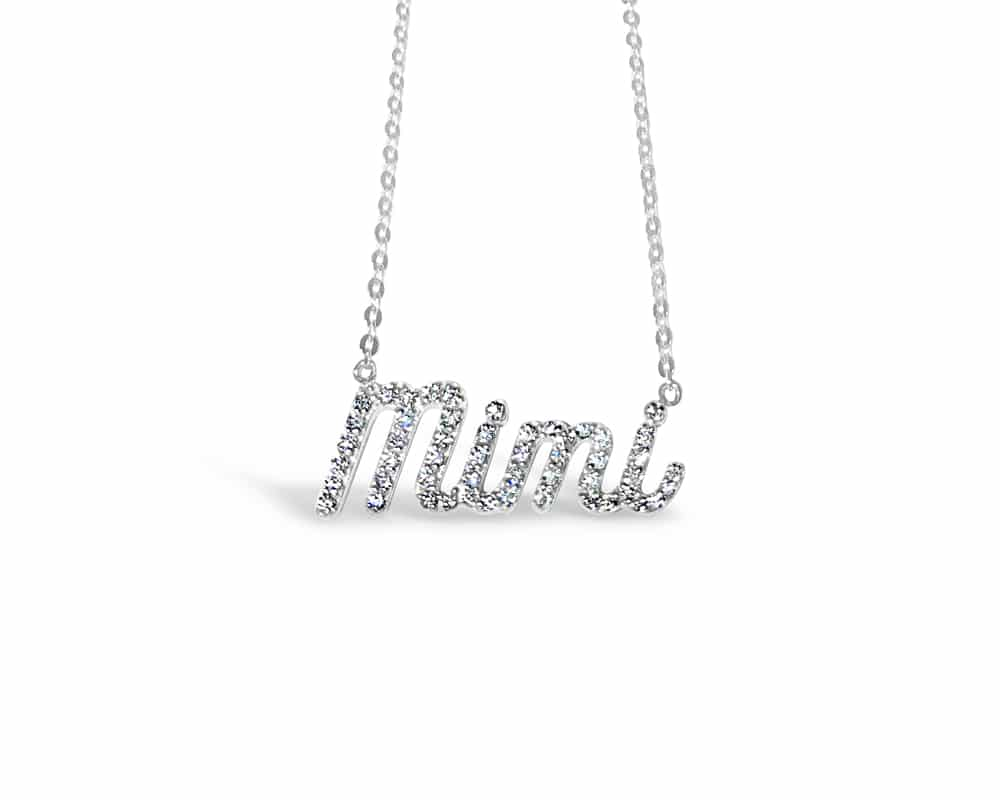"Nickname ""Mimi"" Necklace in White Gold"