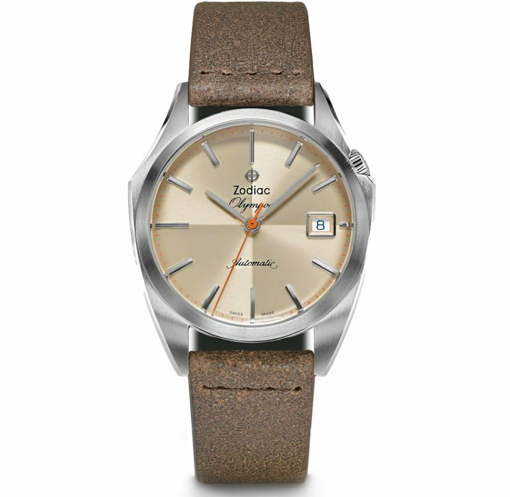Olympos Automatic Brown Leather Watch ZO9702