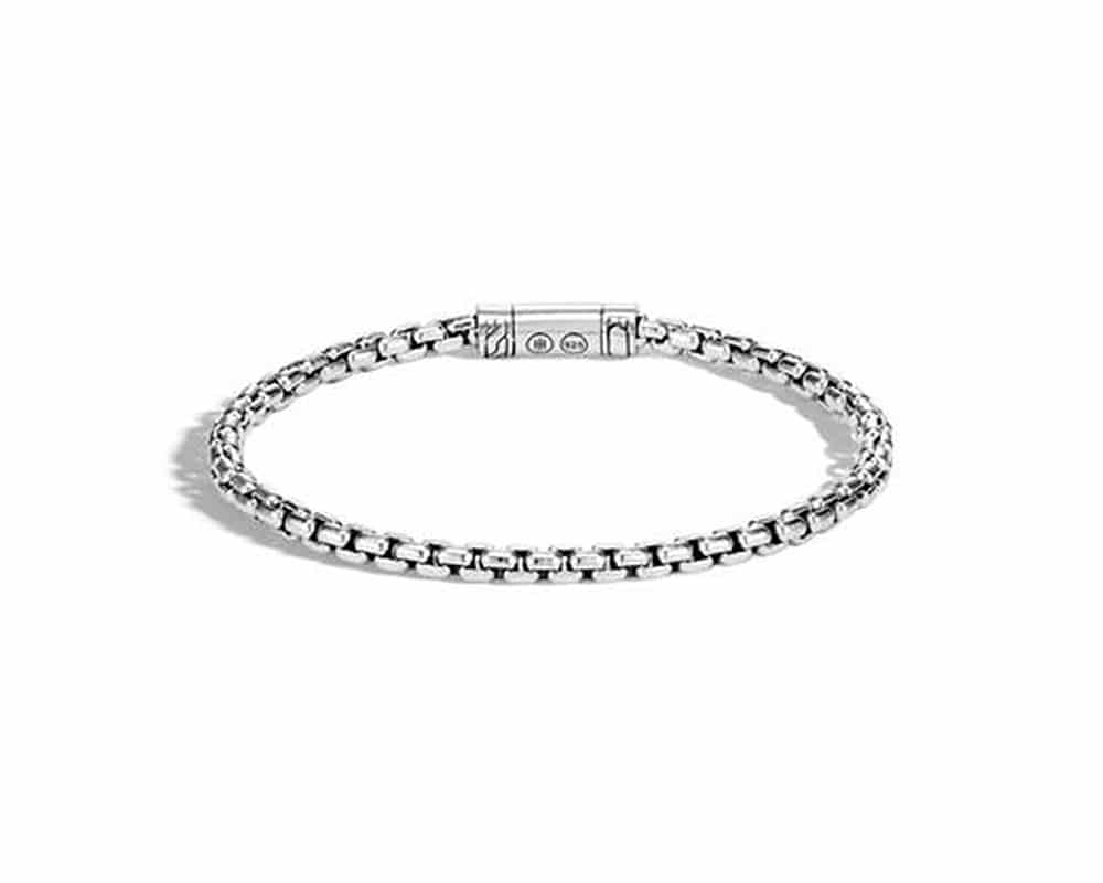 Sterling Silver Classic Box Chain Bracelet