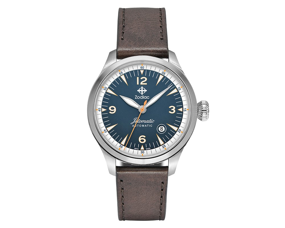 Stainless Steel Blue Index/ Arabic Dial Jetomatic Watch